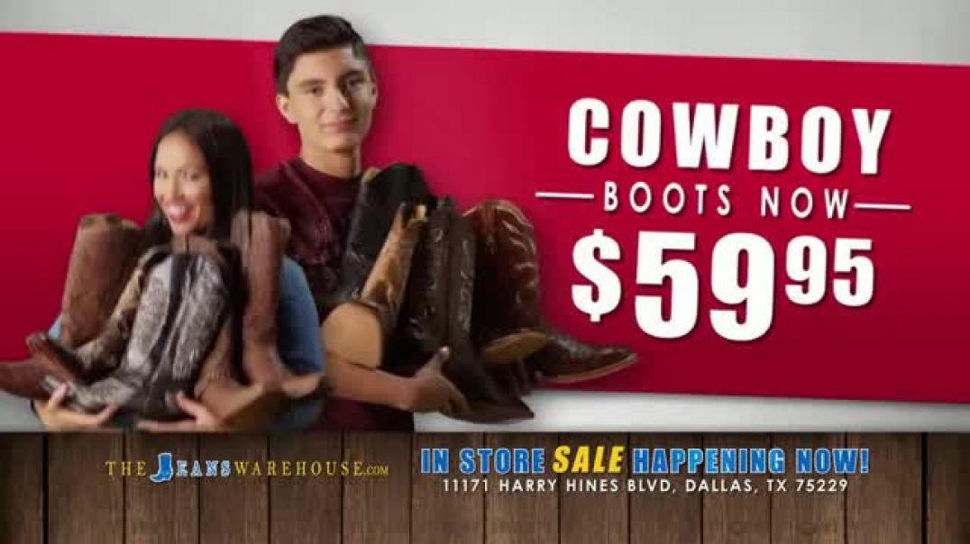 The Jeans Warehouse Annual Blowout Sale TV Commercial Ad Jeans Ad Jackets Ad Boots and More.mp4
