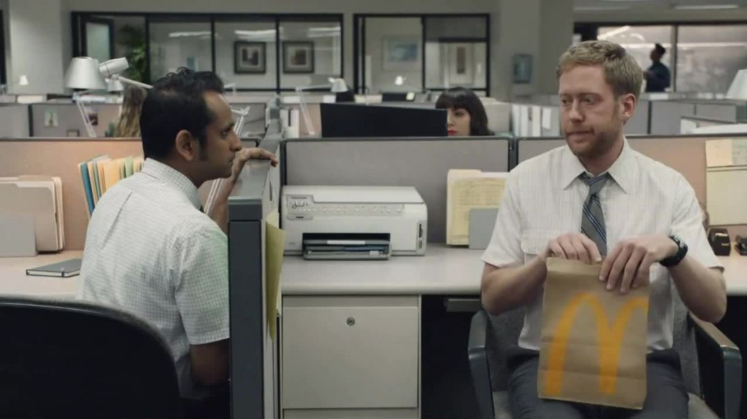 McDonalds TV Commercial Ad Office Cubicles Two Double Cheeseburgers and Fries for $6 and Soft Drink.