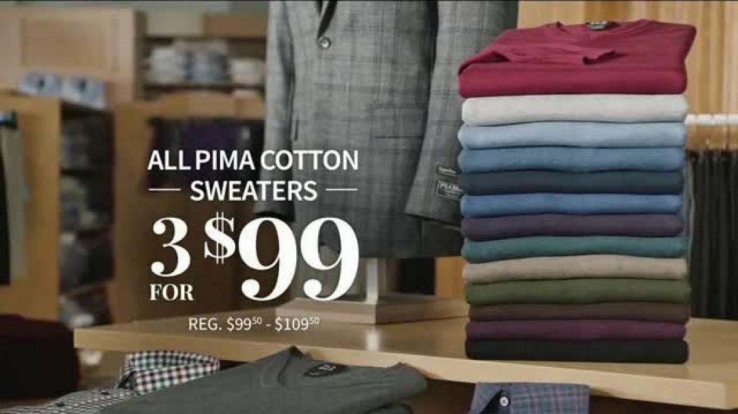 JoS. A. Bank Holiday Gift Specials TV Commercial Ad Pima Cotton Sweaters and Blazers