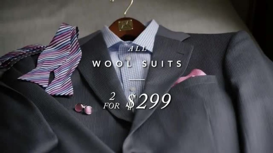 JoS. A. Bank Perfect Price Sale TV Commercial Ad Wool Suits Ad Shirts and Pants.mp4