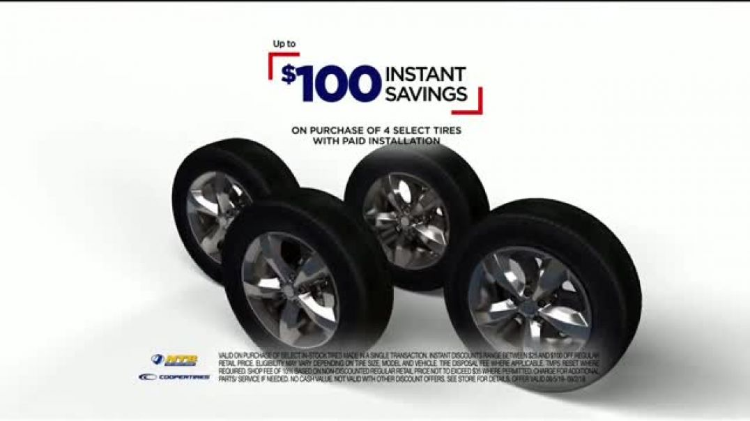 National Tire & Battery TV Commercial Ad $100 Instant Savings $70 MailIn Rebate and Oil