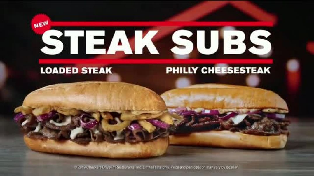 Checkers & Rallys TV Commercial Ad Steak Subs and Wicked Strawberry Cones $3.49 .mp4