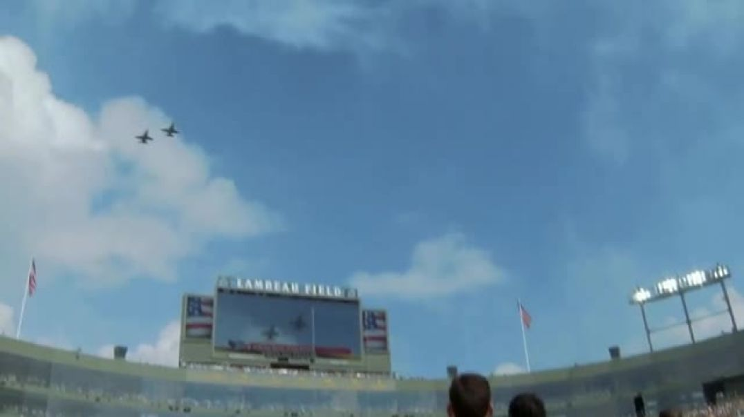 USAA TV Commercial Ad NFL Salute to Service Military Flyover.mp4