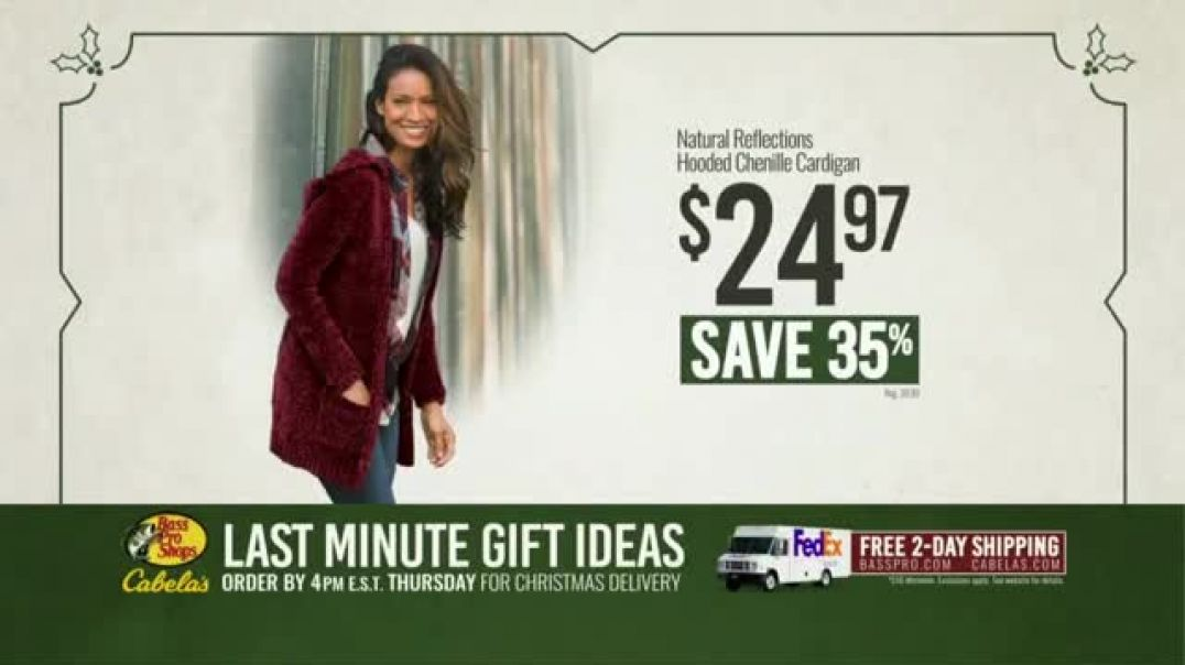 Bass Pro Shops TV Commercial Ad Last Minute Gift Ideas Chenille Cardigans.mp4