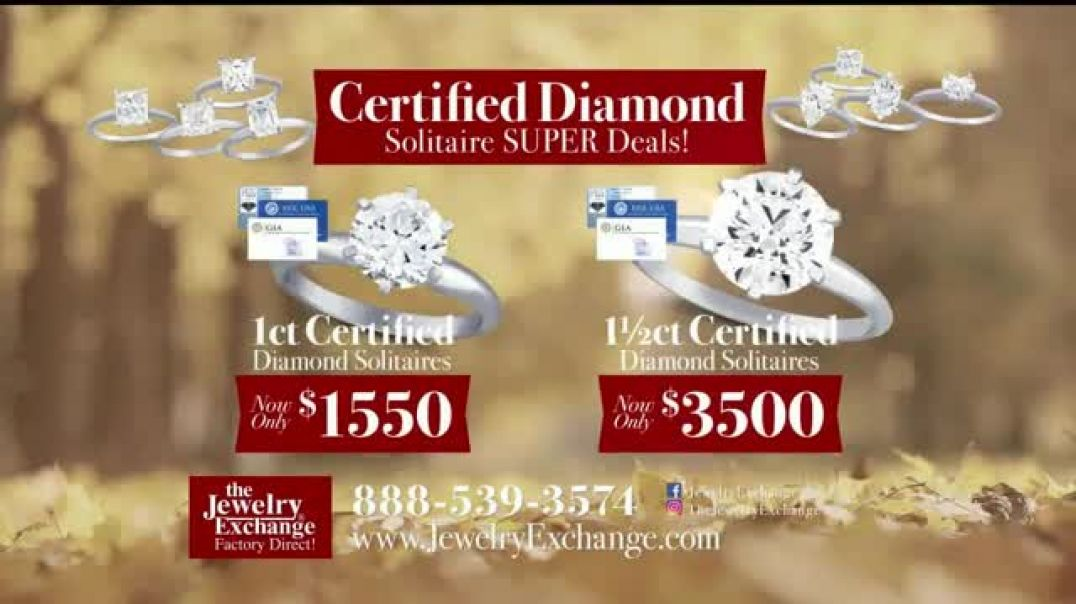 Jewelry Exchange Thanksgiving Super Deals TV Commercial Ad Studs and Solitaires.mp4