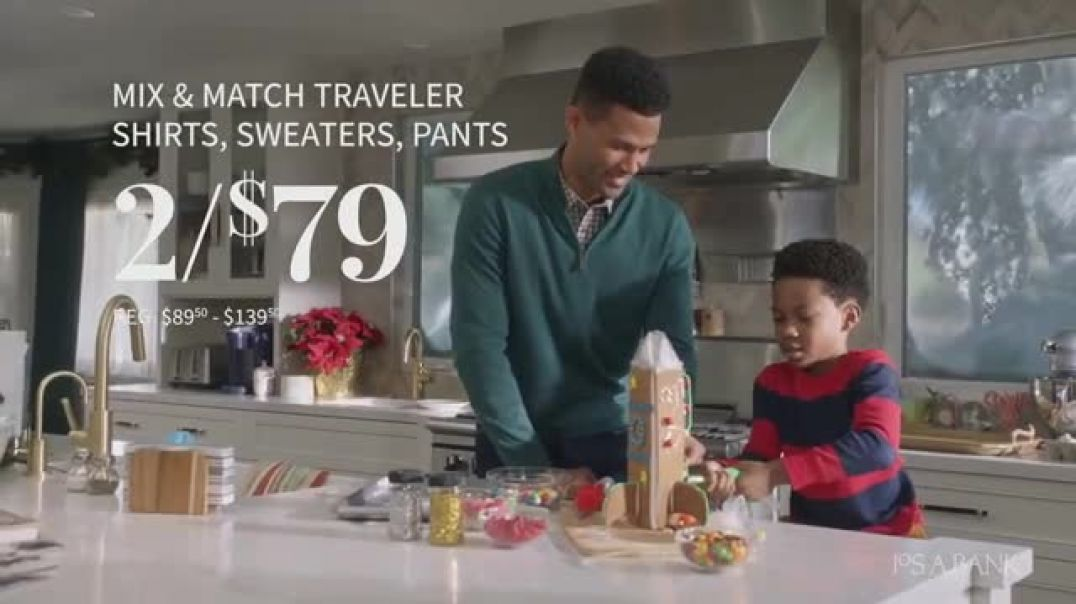 JoS. A. Bank Business Casual Specials TV Commercial Ad Shirts Ad Sweaters Ad Pants and Sportcoats.mp
