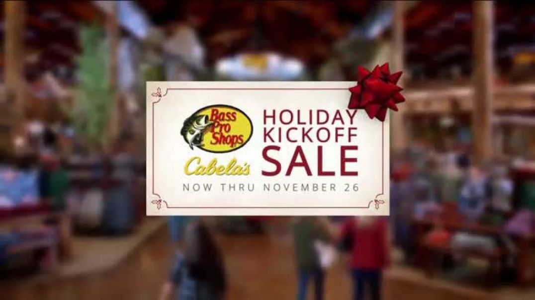 Bass Pro Shops Holiday Kickoff Sale TV Commercial Ad Giant Stuffed Fish and Baitcast Reel.mp4