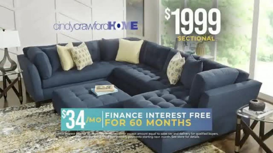 Rooms to Go Holiday Sale TV Commercial Ad Sectionals Matching Ottoman.mp4