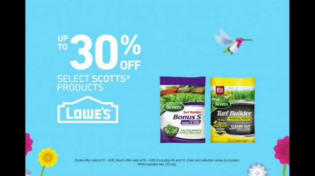 Lowes Spring Savings TV Commercial Ad All Things Spring.mp4