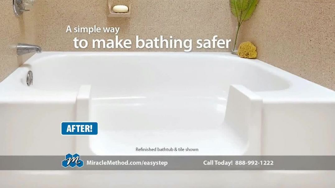 Miracle Method Easy Step TV Commercial Ad Help Prevent Bathtub Slip and Fall Accidents.mp4