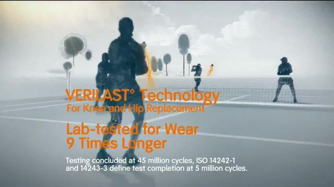 Smith & Nephew Verilast TV Commercial Ad Knee and Hip Replacements.mp4