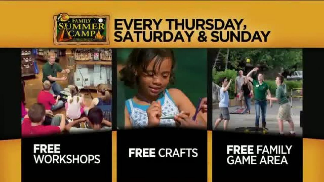 Bass Pro Shops Summer Sale TV Commercial Ad Family Summer Camp and Boats.mp4