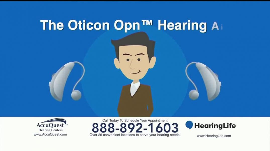 AccuQuest Hearing Centers TV Commercial Ad Oticon Opn Hearing Aid.mp4