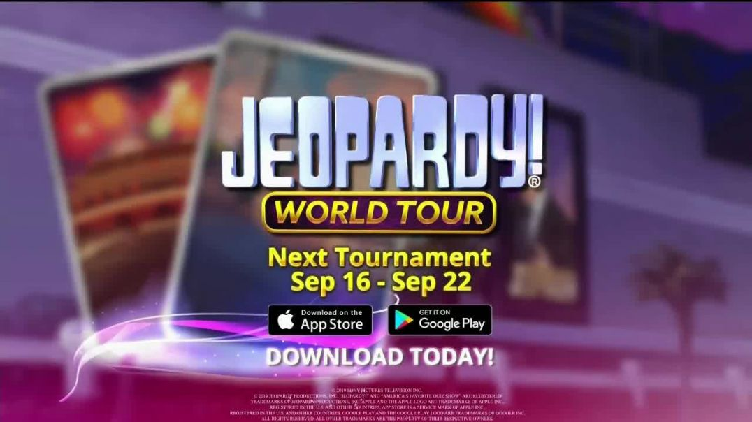 Jeopardy! World Tour TV Commercial Ad Next Tournament September Featuring Mel Robbins.mp4