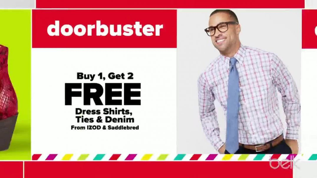 Belk PreThanksgiving Sale TV Commercial Ad Dress Shirts, Sweaters and Towels.mp4