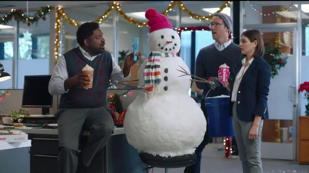 Dunkin Holiday Signature Lattes TV Commercial Ad Snowmanin.mp4