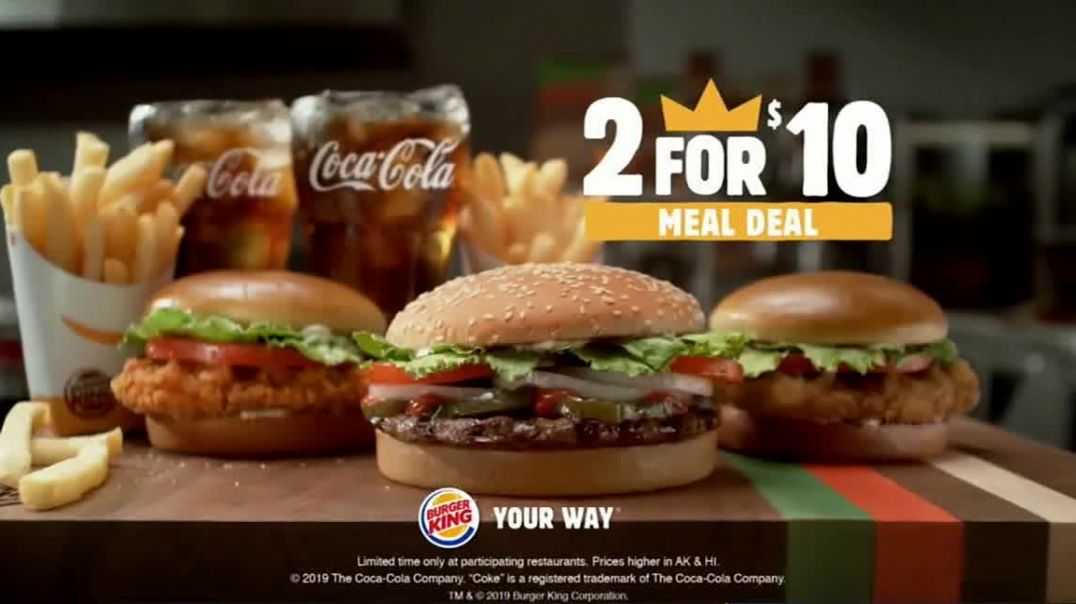 Burger King 2 for $6 Mix or Match TV Commercial Ad Two Fries and Two Drinks.mp4