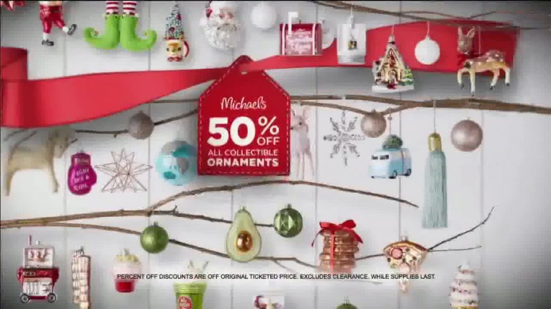 Michaels Holiday Home Event TV Commercial Ad All Christmas Decor Up to 60 Percent Off All Trees.mp4