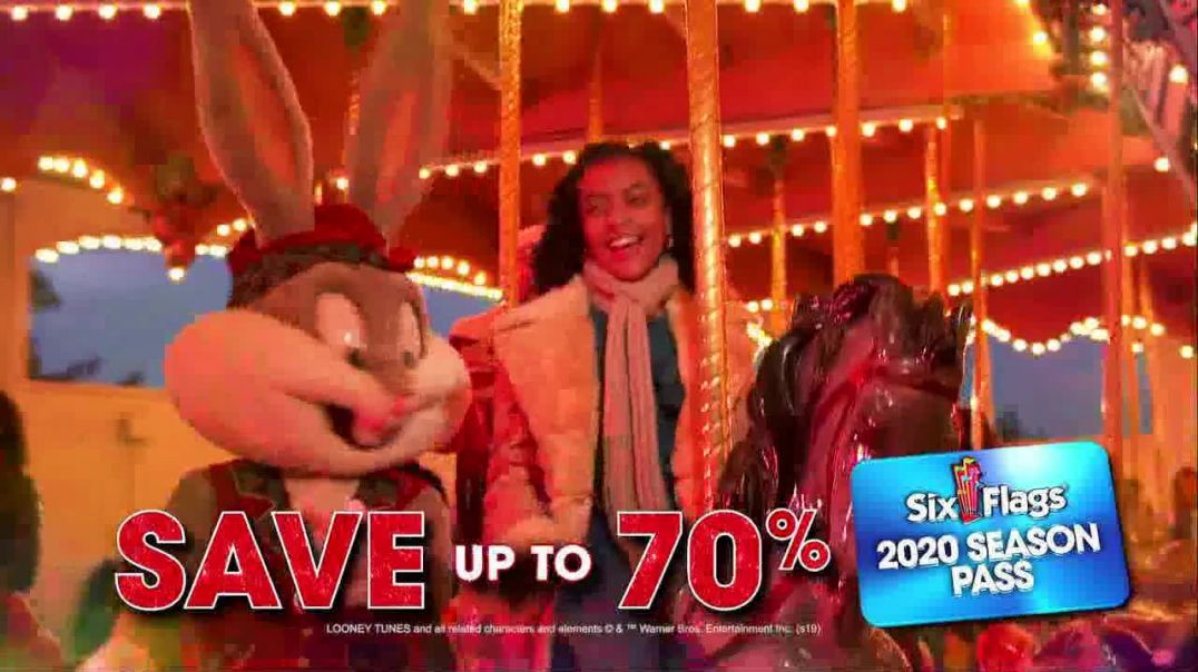 Six Flags Holiday in the Park TV Commercial Ad 2020 Season Pass Gold Upgrade.mp4