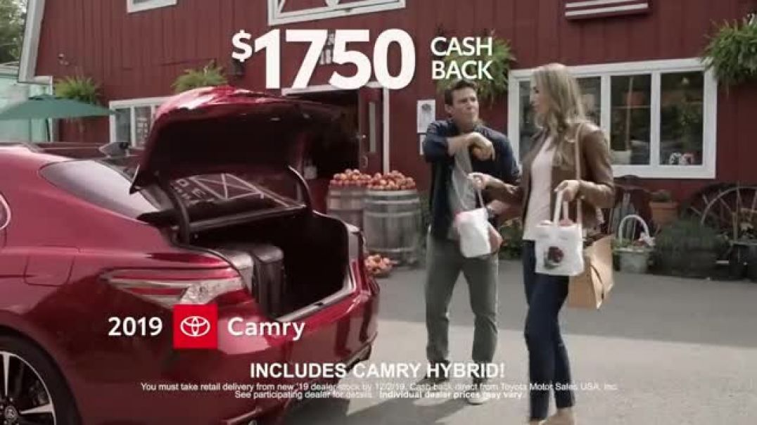 2019 Toyota Camry TV Commercial Ad USA Road Trip Cider Mill Featuring Ethan Erickson, Danielle Demsk