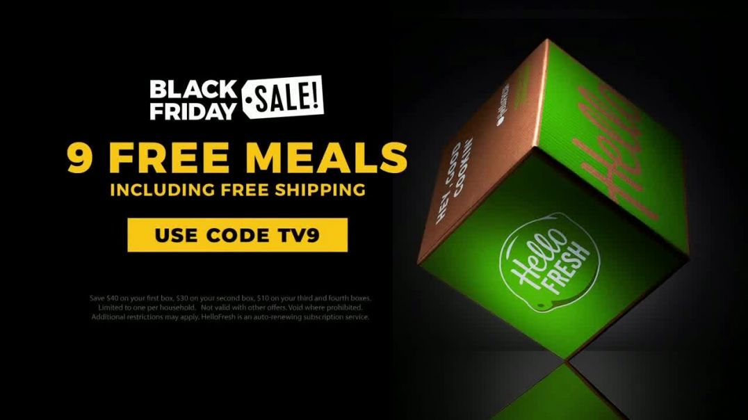 HelloFresh Black Friday Sale TV Commercial Ad The Trindle Family Nine Free Meals.mp4