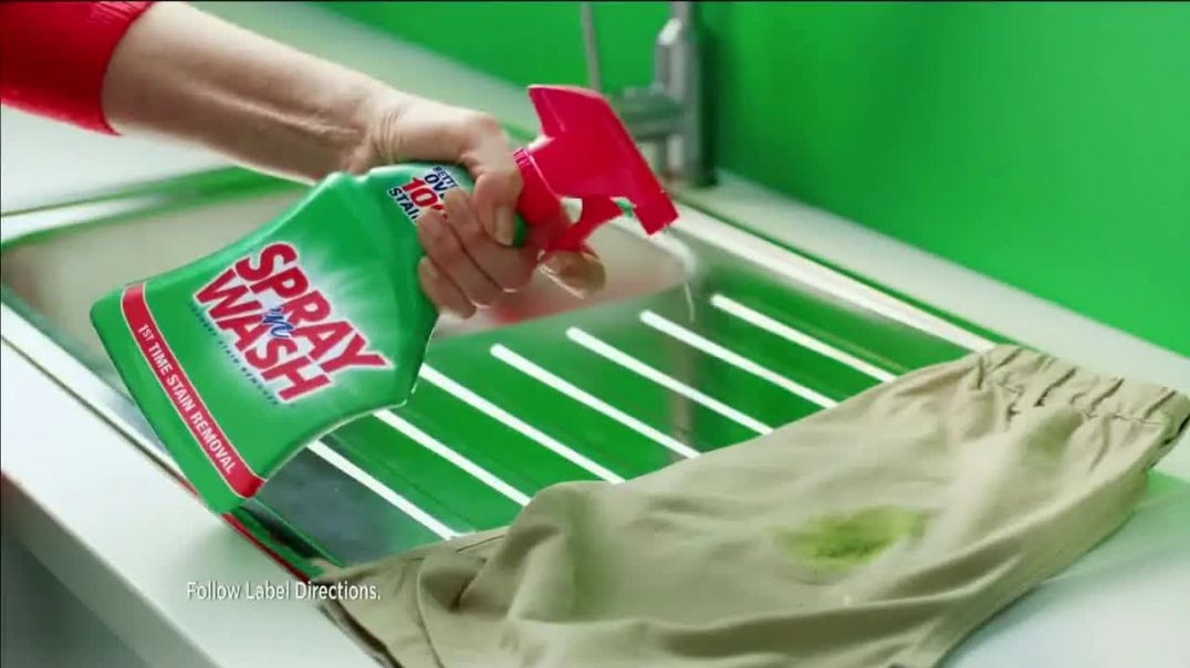 Spray n Wash TV Commercial Ad 100 Rooms of Stains.mp4