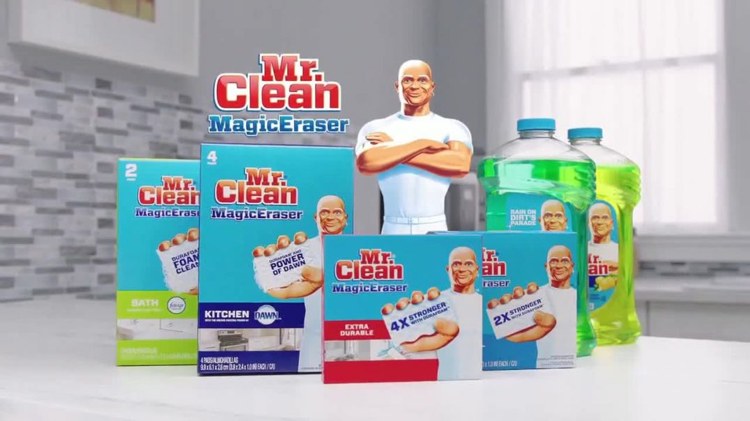 Mr. Clean Magic Eraser TV Commercial Ad Manchas difíciles.mp4