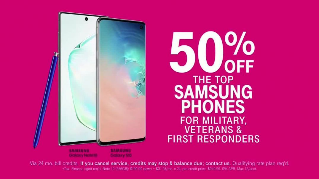 TMobile TV Commercial Ad Military and First Responders 50 Percent Off Samsung Phones.mp4