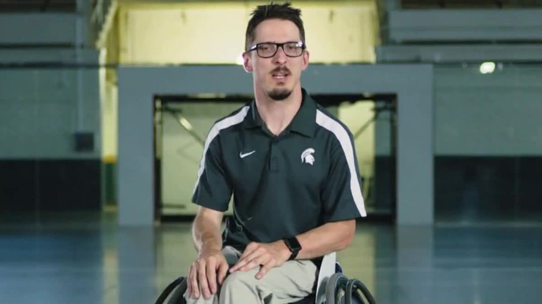 Michigan State University TV Commercial Ad No Limits Piotr Pasik Teaches Adaptive Sports.mp4