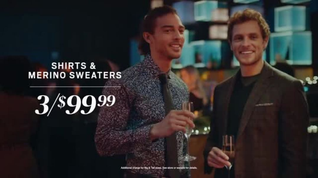 Mens Wearhouse Black Friday TV Commercial Ad The Holidays Are Here Festive.mp4