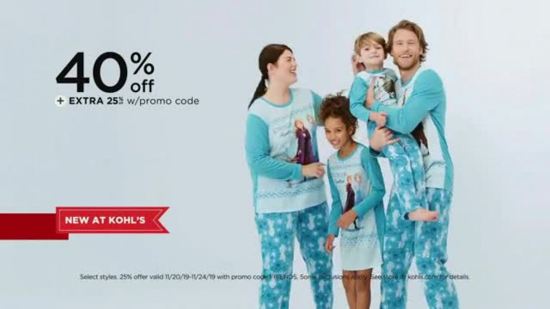 Kohls Friends + Family Sale TV Commercial Ad Family Jammies, Sweaters and Kitchen Electrics.mp4