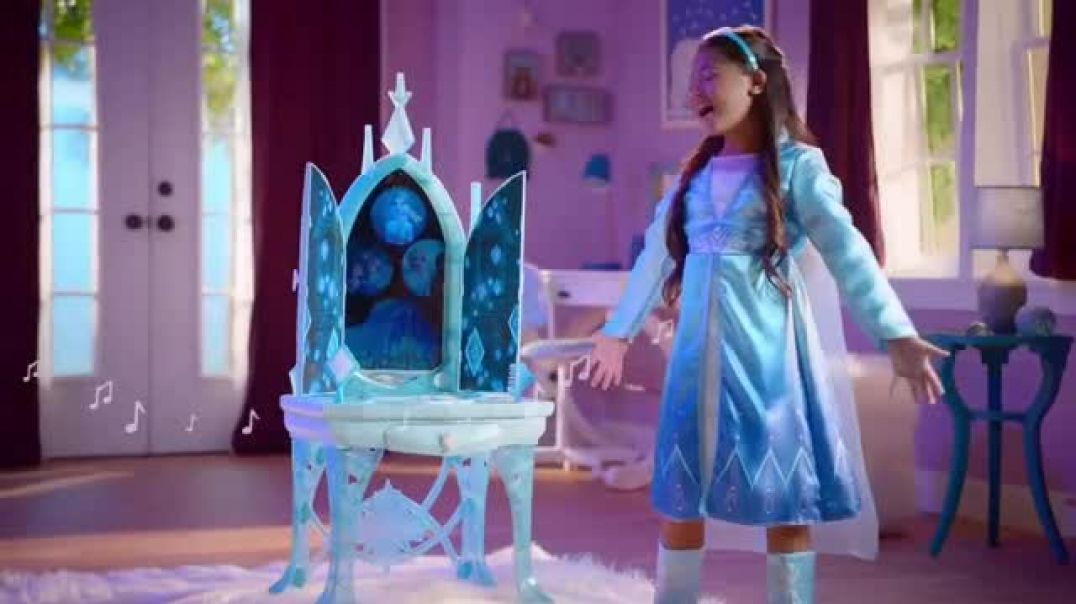 Disney Frozen II Elsas Enchanted Ice Vanity and Adventure Dress TV Commercial Ad See Elsas Story Unf