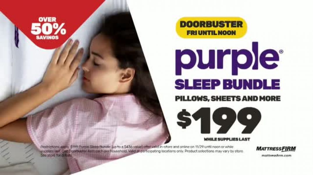 Mattress Firm Black Friday Sale TV Commercial Ad A Deal You Cant Miss.mp4