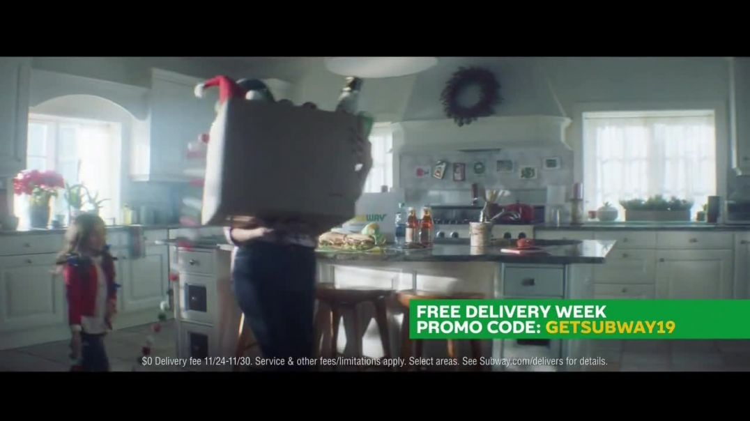 Subway Free Delivery Week TV Commercial Ad Special Moments.mp4