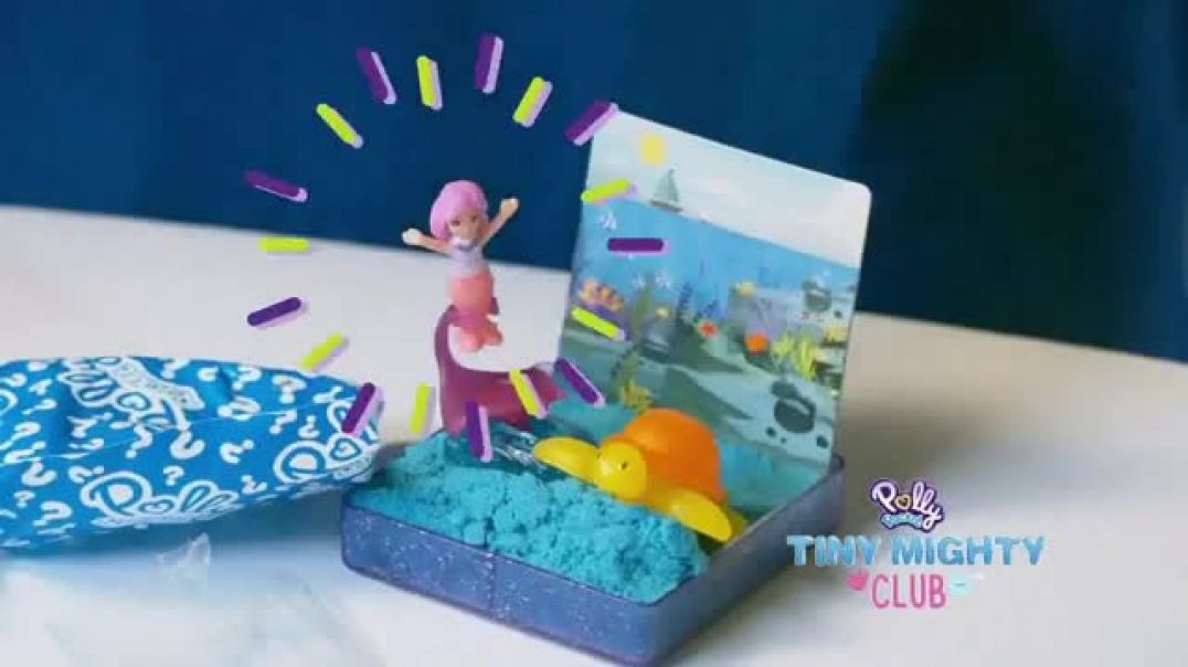 Polly Pocket Sand Secret Surprise Sets TV Commercial Ad Tiny Mighty Club.mp4