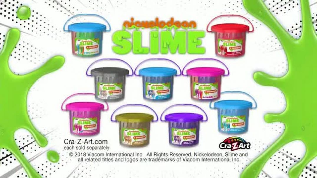 Nickelodeon Buckets of Slime TV Commercial Ad Three Pound Buckets of Slime.mp4