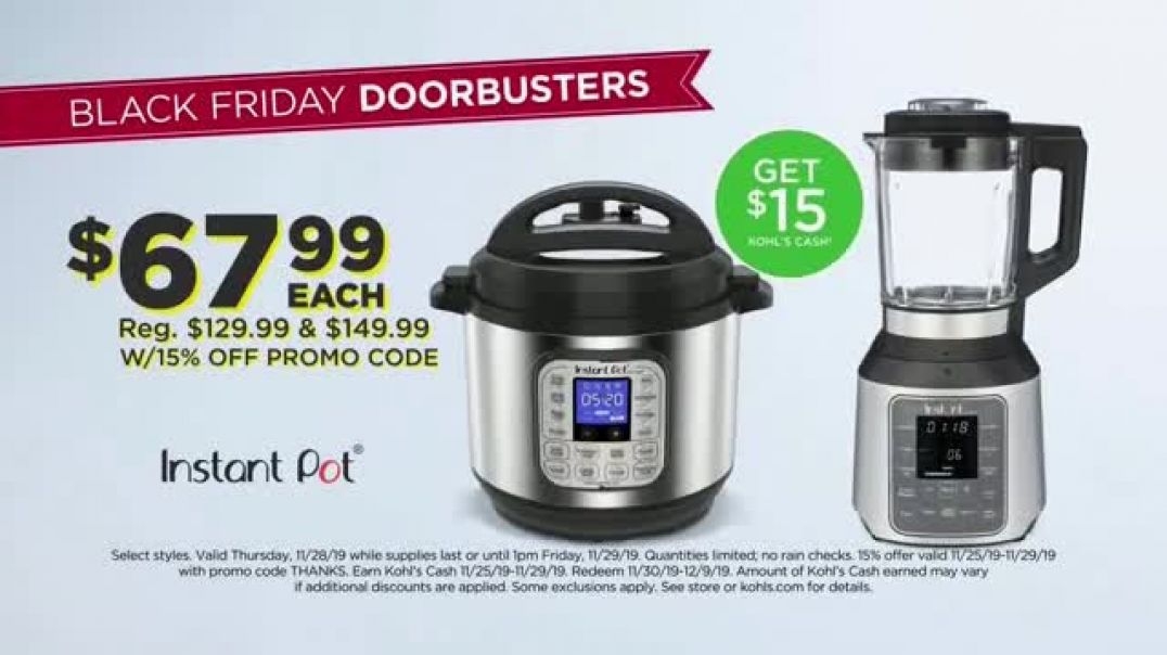 Kohls Black Friday TV Commercial Ad Kitchen Electrics and Google Nest.mp4