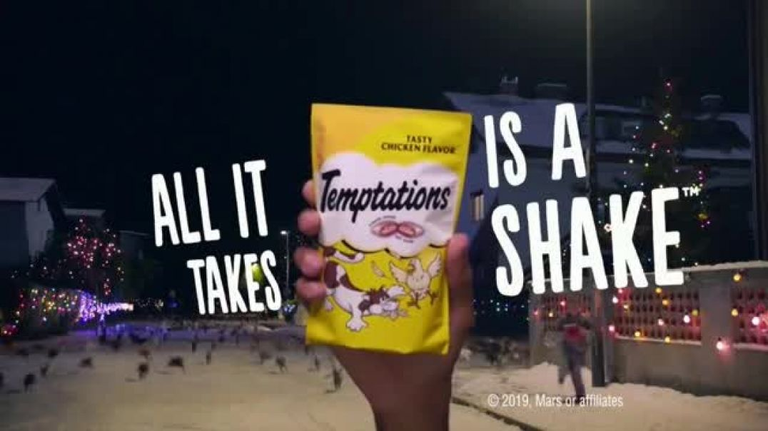 Temptations Cat Treats TV Commercial, Holidays All It Takes Is a Shake