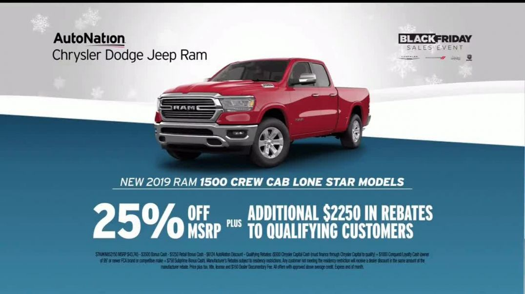 AutoNation Year End Event TV Commercial Ad Black Friday 2019 Ram 1500 Crew Cab Lone Stars.mp4