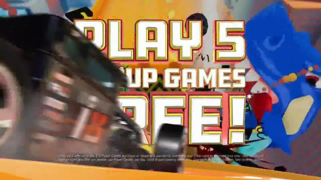 Dave and Busters TV Commercial Ad AllNew Hot Wheels King of the Road Game + Play 5 Group Games Free.