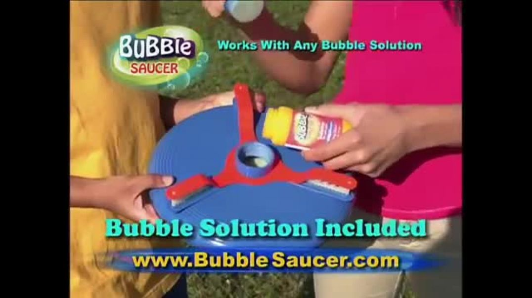 Bubble Saucer TV Commercial Ad The Amazing Flying Bubble Machine.mp4