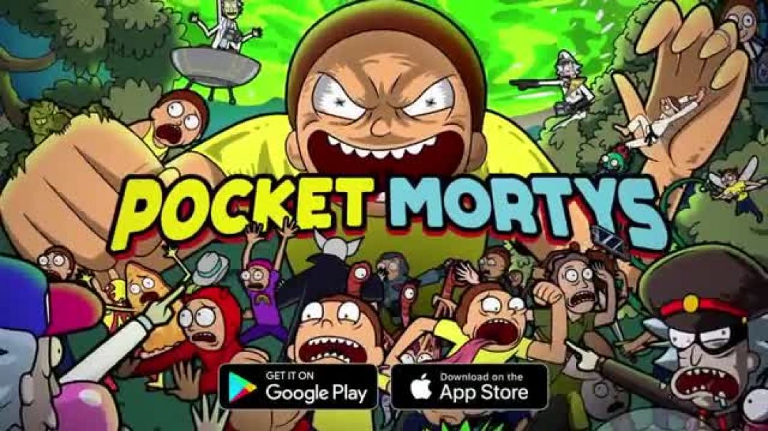 Pocket Mortys TV Commercial Ad New Avatars Charred Morty, Ventriloquiver Morty and Truckula Driver.m