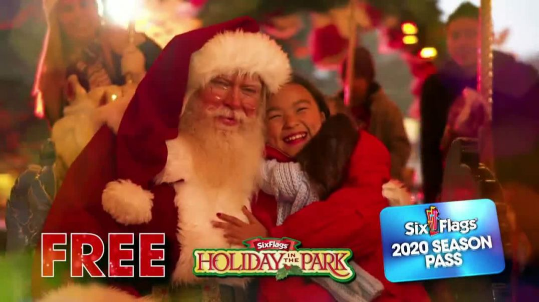 Six Flags Cyber Sale TV Commercial Ad Holiday in the Park Buy a Day, Get the Year Free.mp4