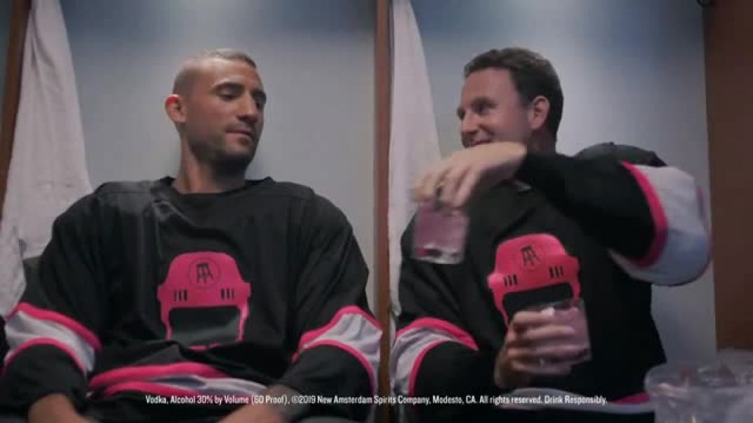 New Amsterdam The Pink Whitney TV Commercial Ad Locker Room Featuring Ryan Whitney, Paul Bissonnette