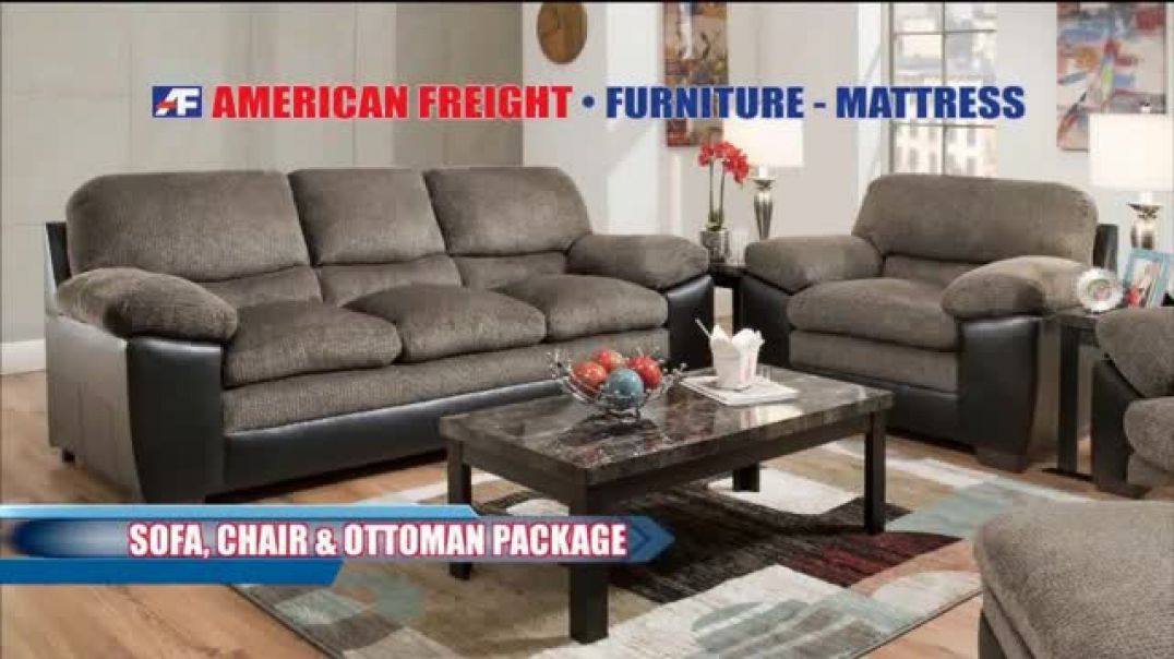American Freight Black Friday 4 Day Sale TV Commercial Ad Queen Mattress, Sofa and Table.mp4