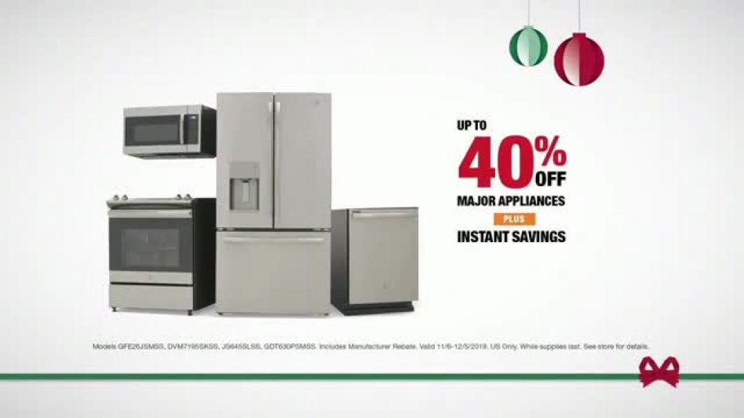 The Home Depot Black Friday Savings TV Commercial Ad GE Appliances Stainless Steel Kitchen Package.m
