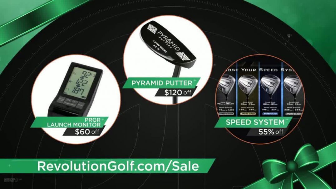 Revolution Golf TV Commercial Ad Savings Holiday Gift Guide.mp4