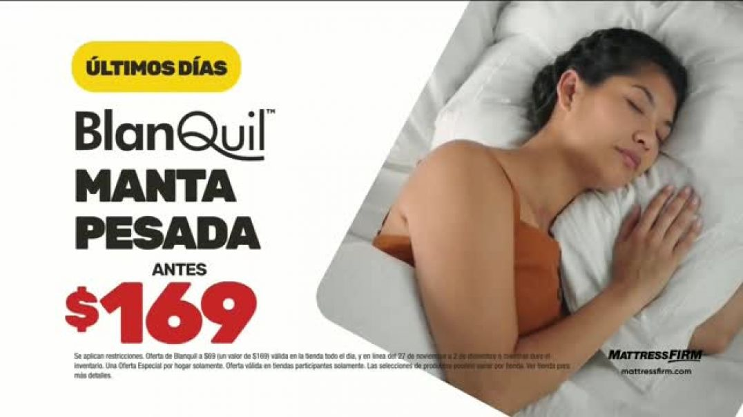 Mattress Firm Venta de Black Friday TV Commercial Ad Extendida BlanQuil y Serta.mp4
