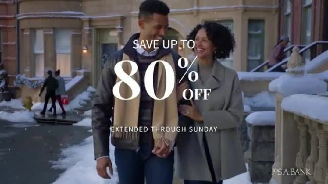 JoS. A. Bank Black Friday Doorbusters TV Commercial Ad Extended Save up to 80 Percent Off.mp4