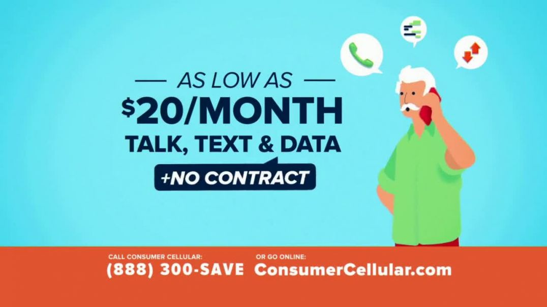 Consumer Cellular TV Commercial Ad Better Value Pizza Holiday $25 Credit.mp4